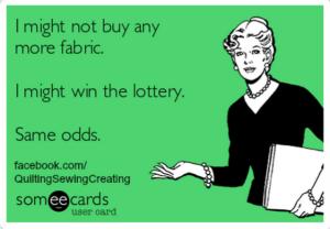 i might win the lottery